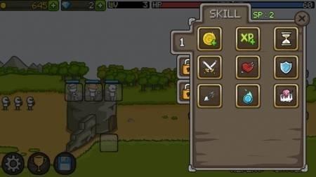 Grow Castle улучшение навыков