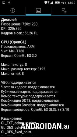 информация про видеопроцессор устройства