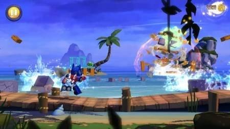 Angry Birds Transformers уничтожение свиней 1
