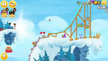 Angry Birds Seasons зимой