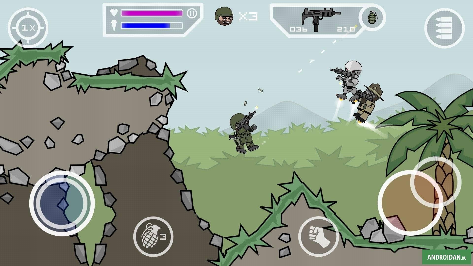 скачать Doodle Army 2 Mini Militia V4042 на андроид оригинал